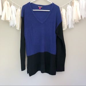Vince Camuto Oversized Slouchy Sweater Black/Blue